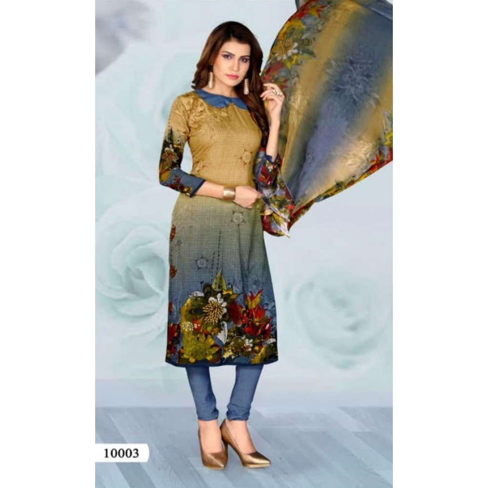 لباس هندی حریر چاپی